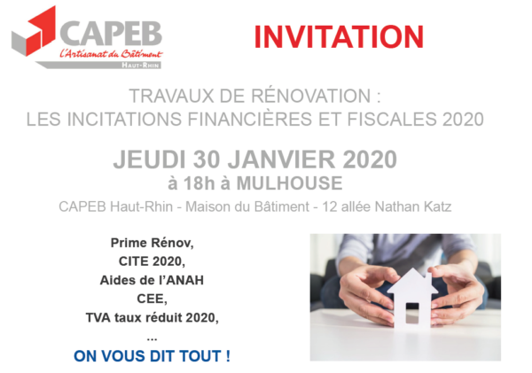 TRAVAUX DE RÉNOVATION : LES INCITATIONS FINANCIÈRES ET FISCALES 2020